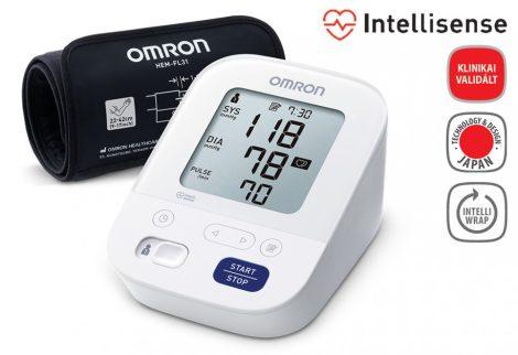 OMRON M3 Comfort Intellisense felkaros vérnyomásmérő + adapter