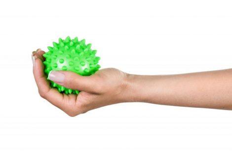 QMED Tüskés masszázslabda 7cm zöld