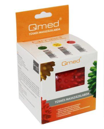 QMED Tüskés masszázslabda 9cm piros